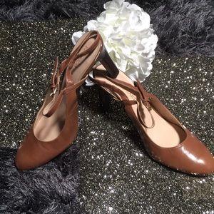 Franco Sarto Mocha Slingback Heels